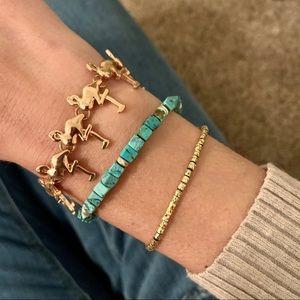 🦩BaubleBar's Rose Gold Toned Flamingo Bracelet 🦩